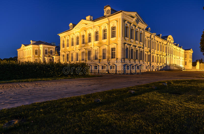 Rundale, latvia, europe, the palace royalty free stock image