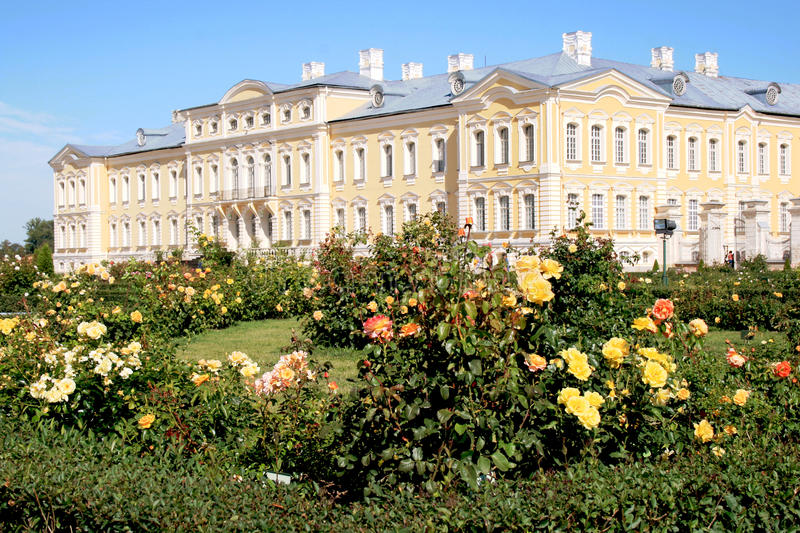 Rundale palace in Latvia stock images