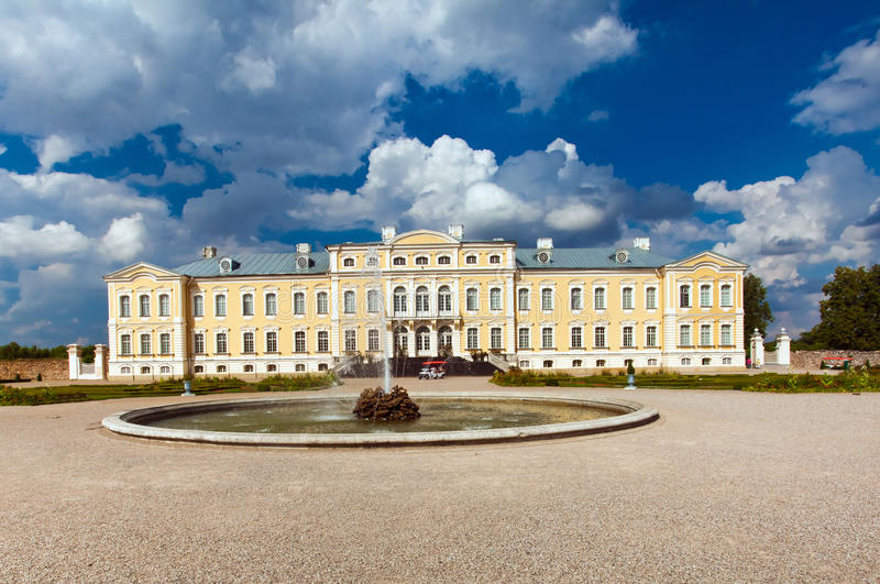 Rundale palace in Latvia stock photos