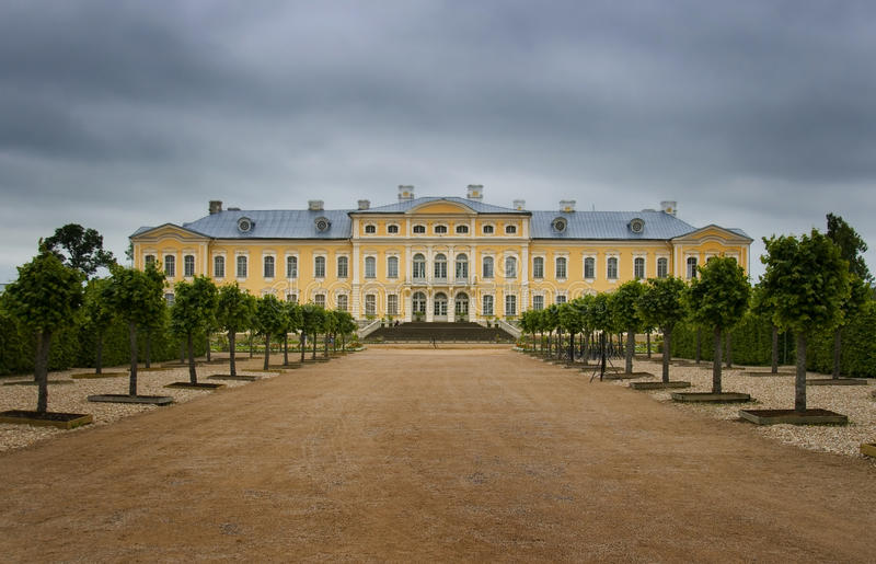 Rundale Palace in overcast day