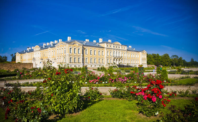 Rundale palace stock photos