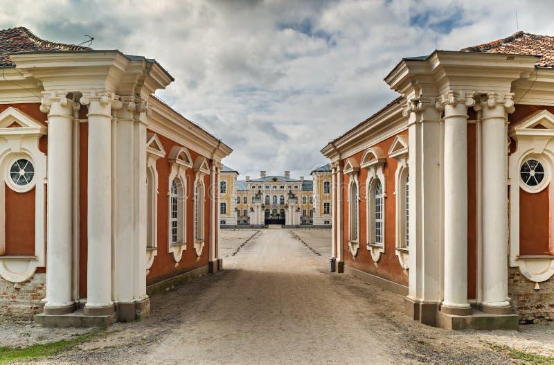 Rundale slott i Lettland, Europa arkivfoto