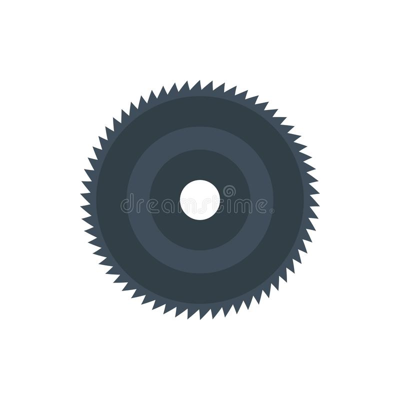 Rundan såg för hjälpmedelbladet för vektorn den runda symbolen Disketten för snittet för bransch för cirkelutrustningmetall isole vektor illustrationer