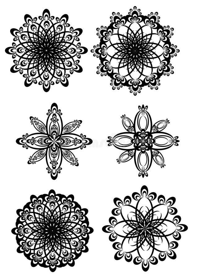 Rundaprydnader royaltyfri illustrationer