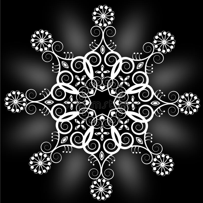 Rundaprydnader vektor illustrationer
