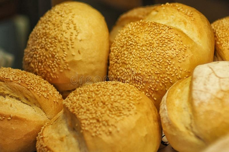 Rundat bröd arkivfoton