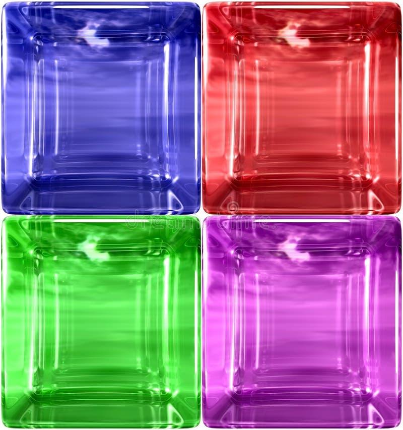 rundat enkelt för cudetaljexponeringsglas royaltyfri illustrationer