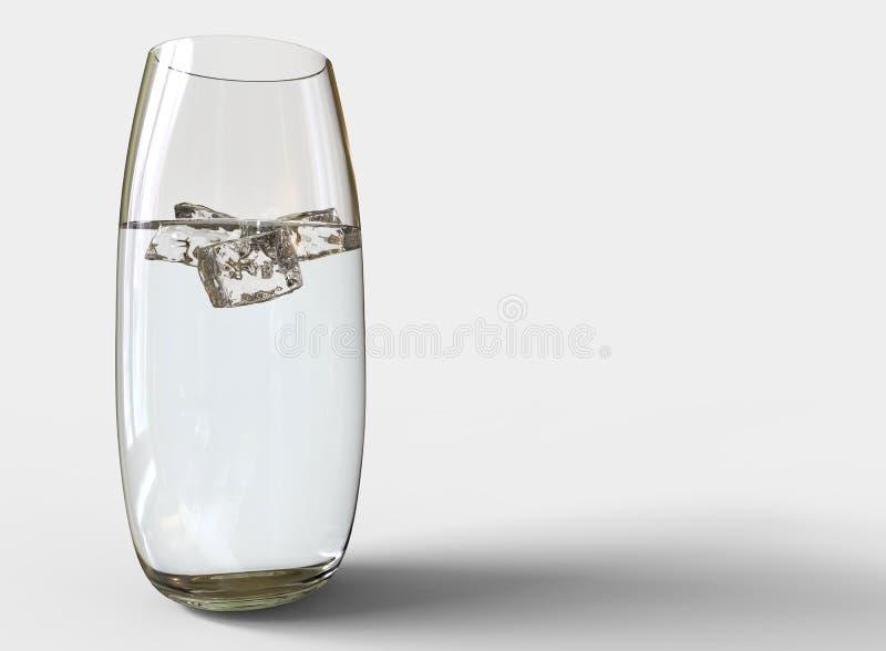 Rundat exponeringsglas av vatten arkivfoto