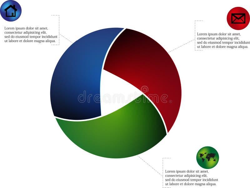 Rundat infographic royaltyfri illustrationer