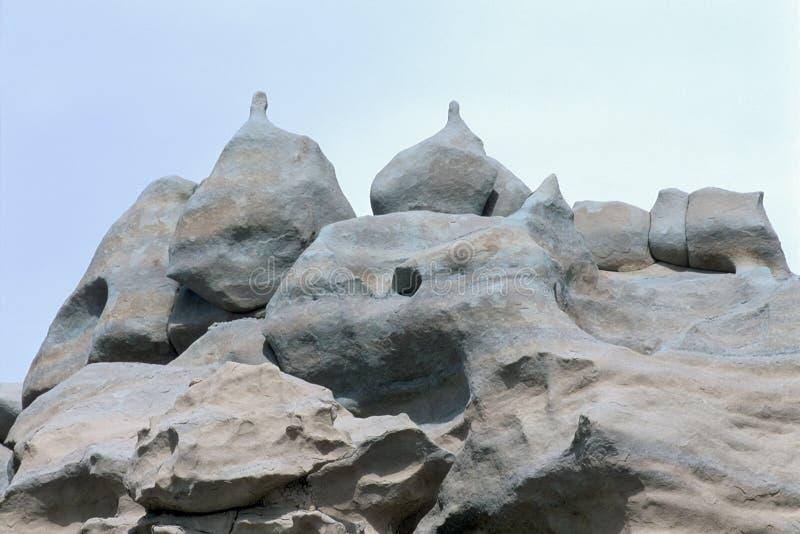 Rundat vagga bildande i fantasikanjonen, Utah arkivfoto