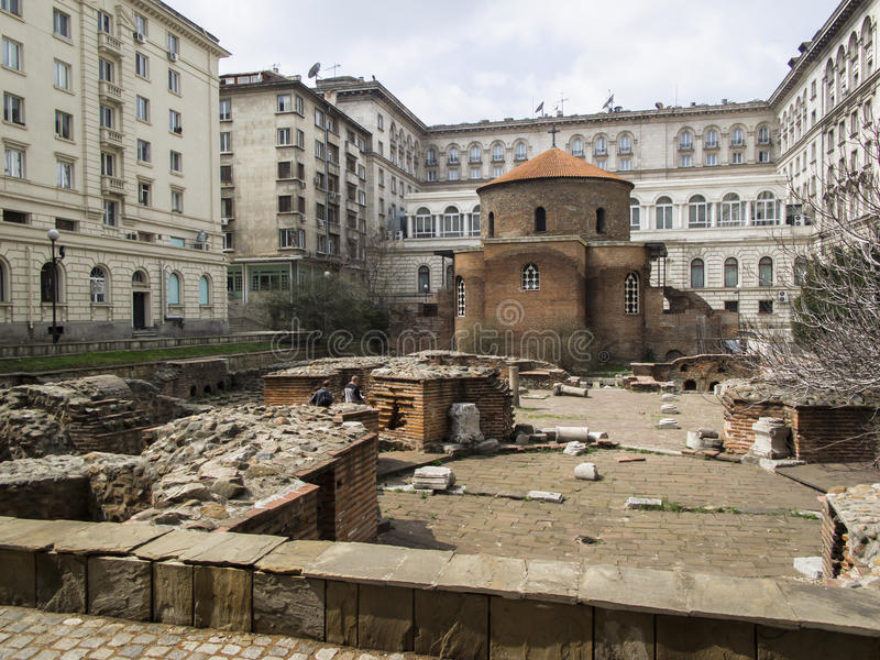 Rundbau-St George oder Sveti Georgi in Sofia, Bulgarien stockbild