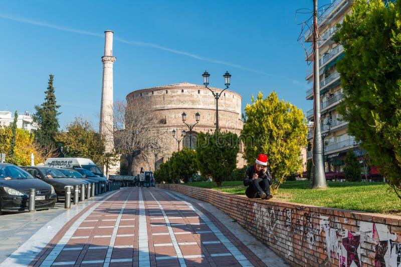 Rundbau von Galerius, Saloniki, Mazedonien, Griechenland stockfotografie
