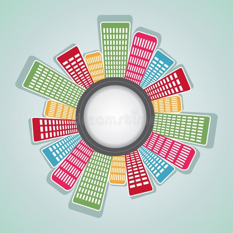 Download Runde Anordnung Für Bunte Wohnung Stockfoto - Bild von panorama, getrennt: 27725326