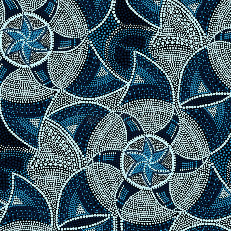 Blaue Mosaikfliesen Stock Abbildung. Illustration Von