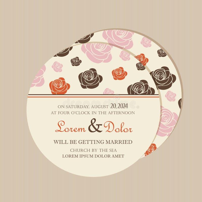 Runde, doppelseitige Blumenabwehr die Datumskarte lizenzfreie abbildung