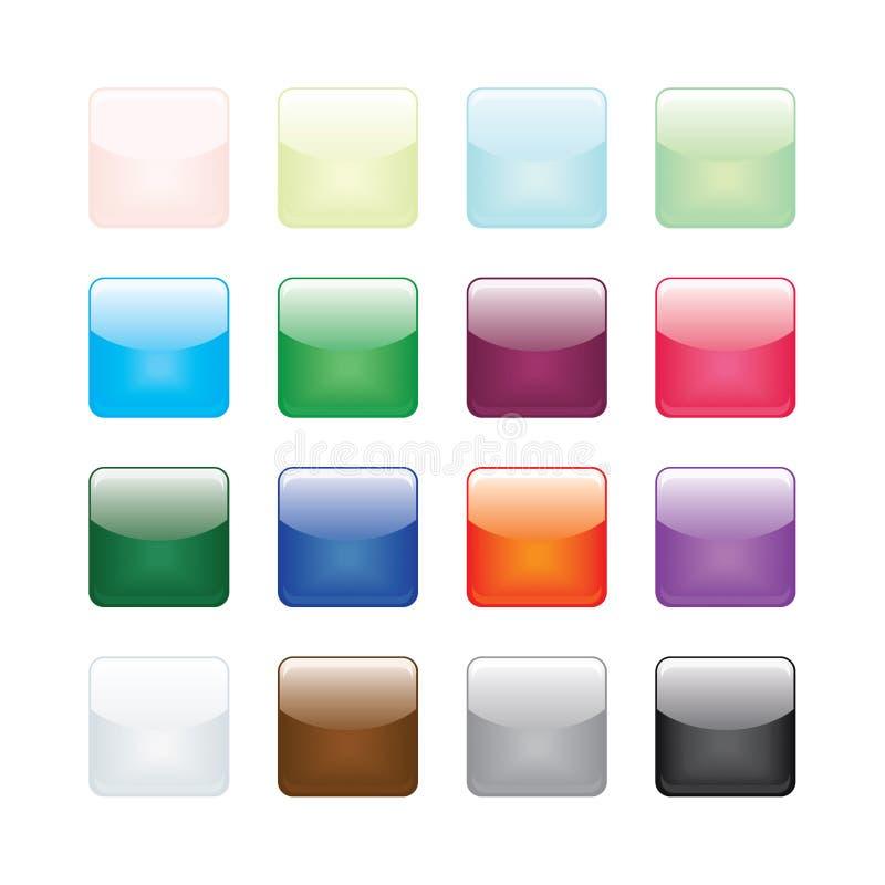 Runde Ecken-glatte Taste stock abbildung