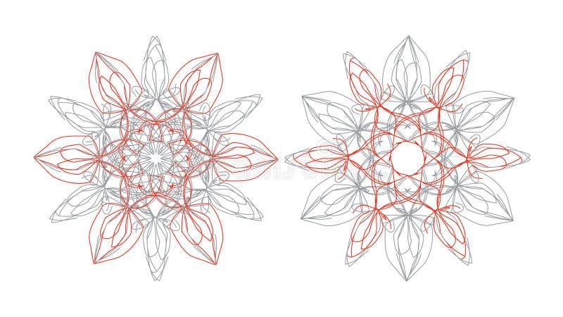 Runde ethnische indische Mandalaverzierung vektor abbildung