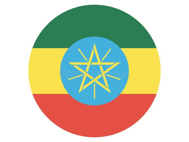 Runde Flagge von Äthiopien lizenzfreie abbildung