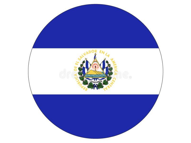 Runde Flagge von El Salvador lizenzfreie abbildung