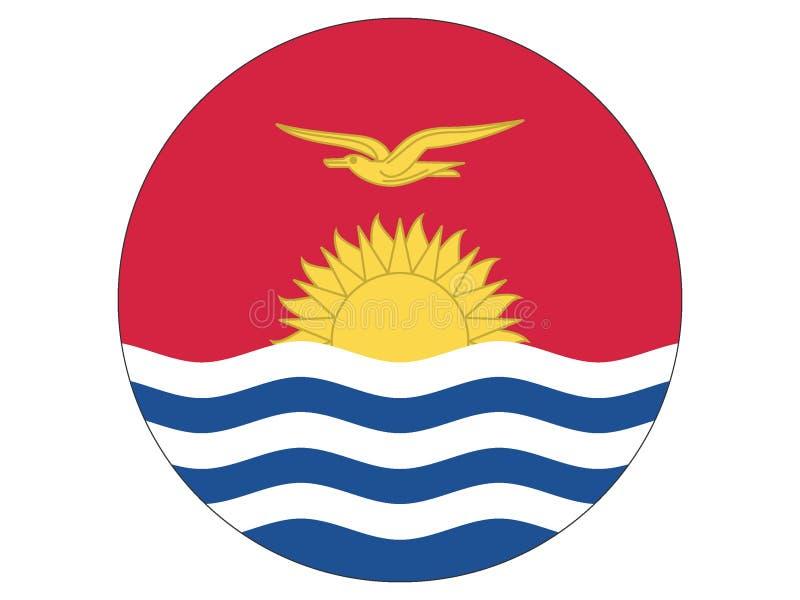 Runde Flagge von Kiribati vektor abbildung