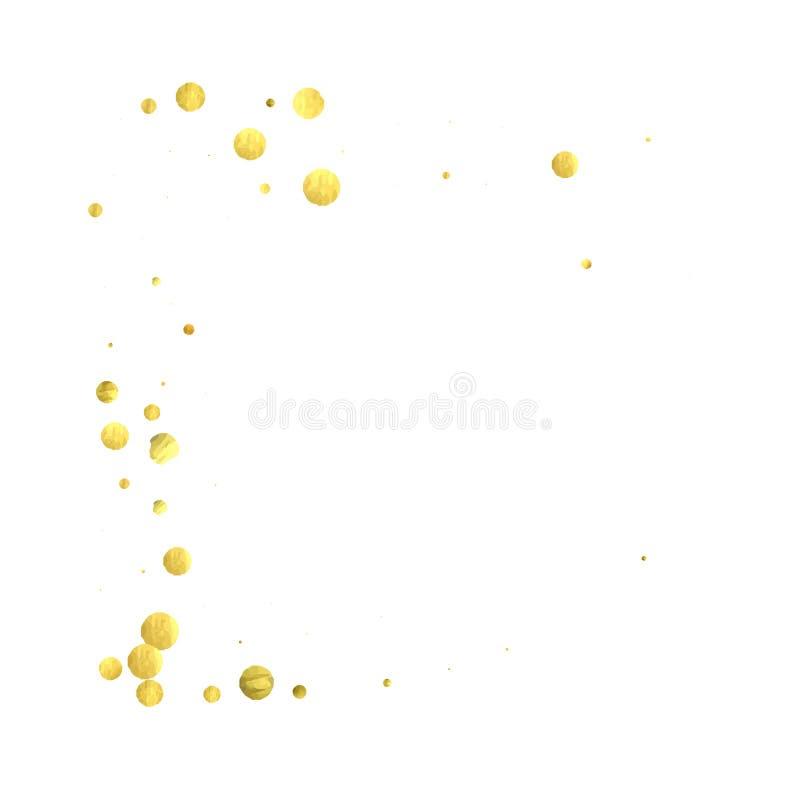 Runde Goldkonfettis vektor abbildung