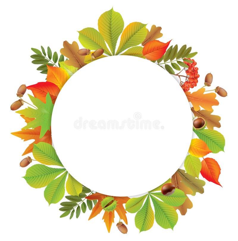 Runde Herbstfahne lizenzfreie abbildung
