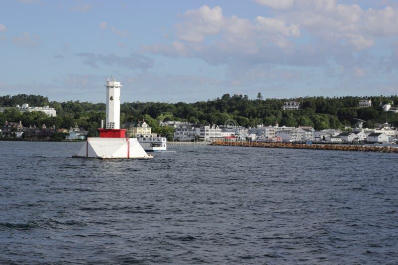 Runde Inseldurchgangslicht Mackinac-Insel lizenzfreies stockbild