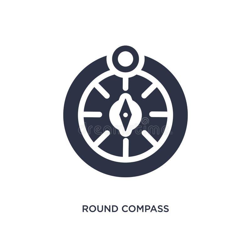 runde Kompassikone auf weißem Hintergrund Einfache Elementillustration von mechanicons Konzept stock abbildung