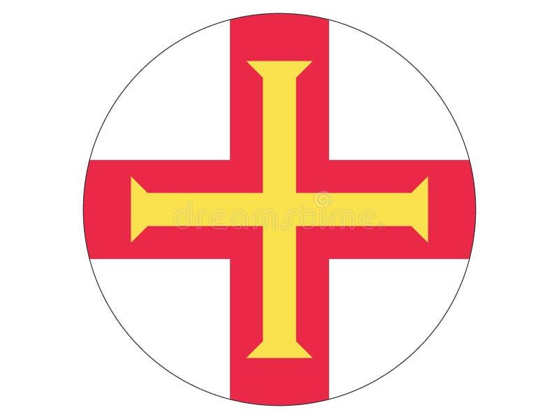 Runde Markierungsfahne von Guernsey stock abbildung