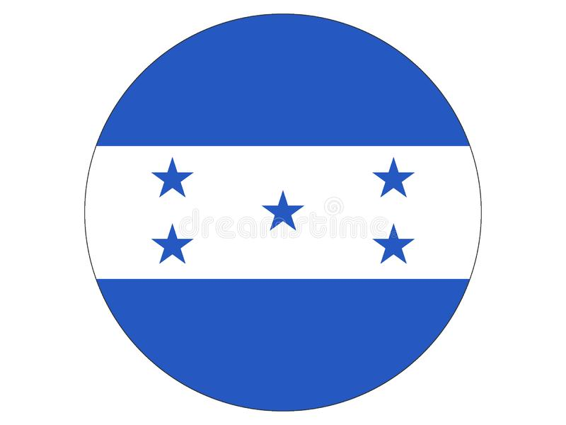 Runde Markierungsfahne von Honduras stock abbildung