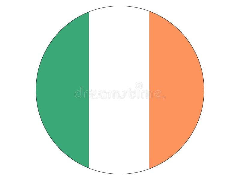 Runde Markierungsfahne von Irland lizenzfreie abbildung