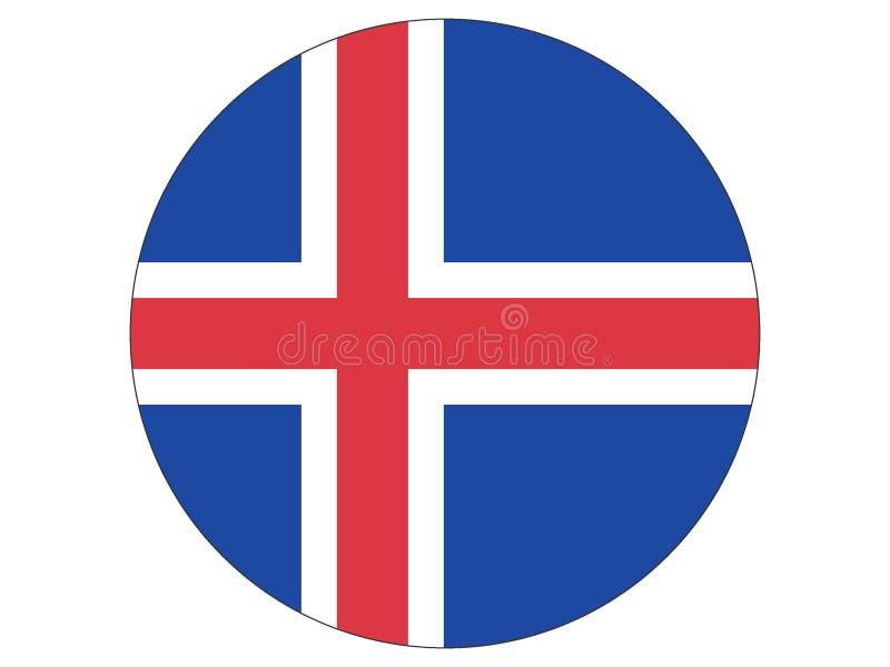 Runde Markierungsfahne von Island stock abbildung