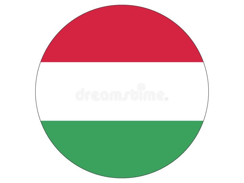 Runde Markierungsfahne von Ungarn vektor abbildung