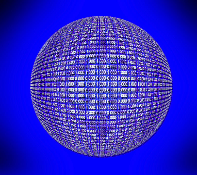 Runde Matrix stock abbildung