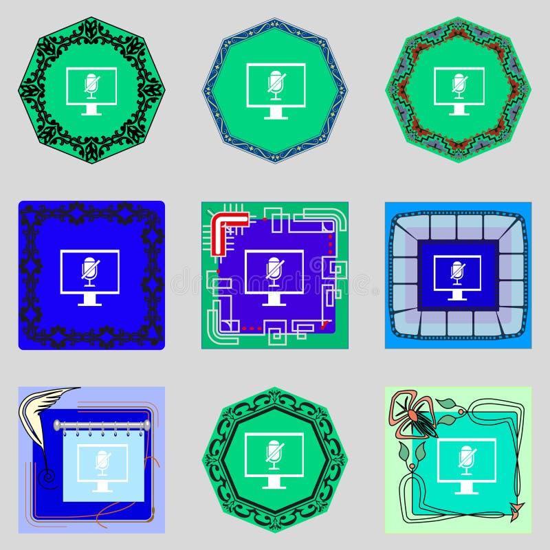 Runde metallische Knöpfe Hauptseitenknopf nearsighted lizenzfreie abbildung