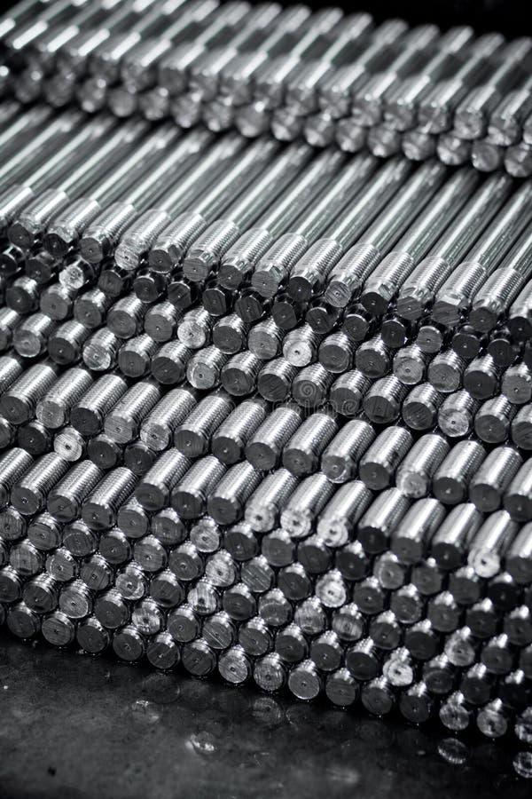 Runde Metallstangen stockbilder