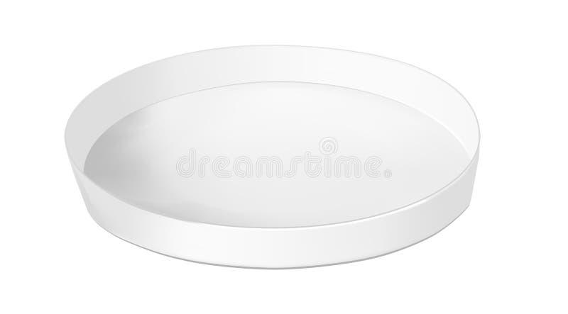 Runde Pappschachtel für Nahrung, Plätzchen und Geschenke lizenzfreie abbildung