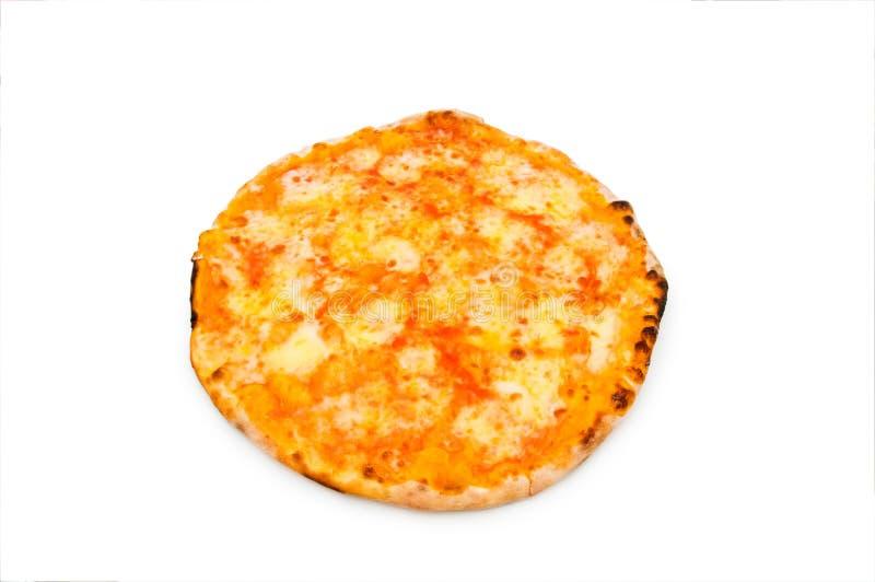 Runde Pizza getrennt stockfoto