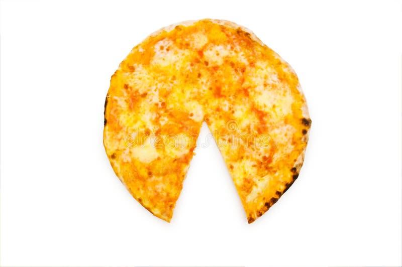 Runde Pizza getrennt lizenzfreie stockfotos