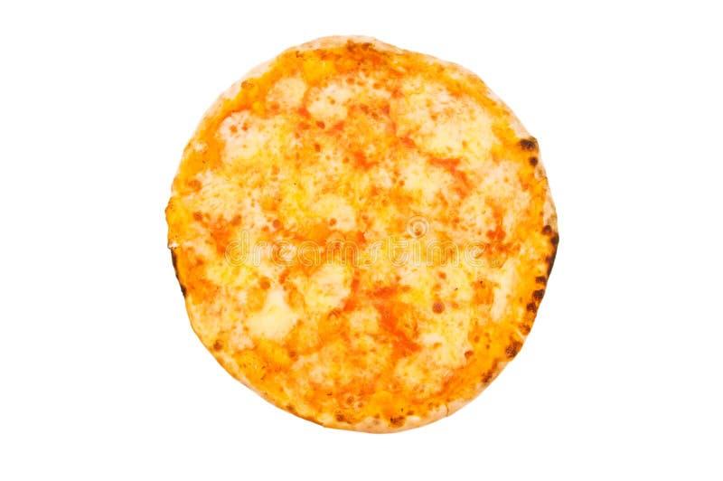 Runde Pizza getrennt stockfotografie