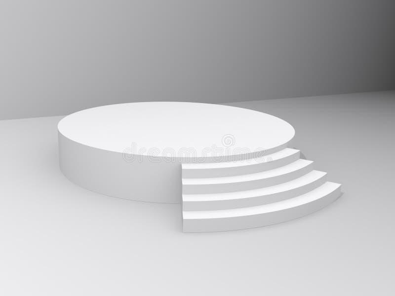 Runde Plattform oder Stadium lizenzfreie abbildung