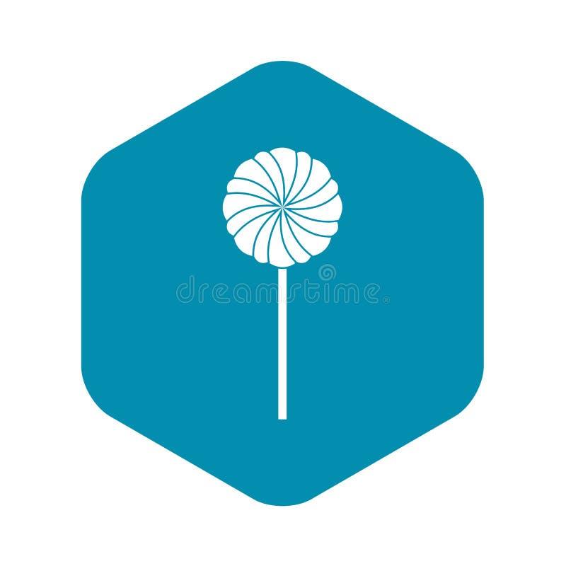 Runde S??igkeitsikone, einfache Art stock abbildung