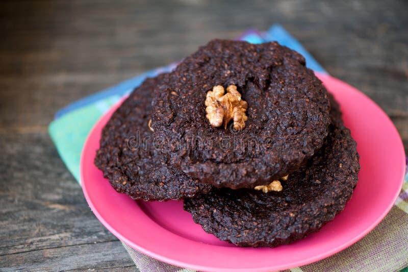 Runde Schokoladenkuchen lizenzfreie stockbilder