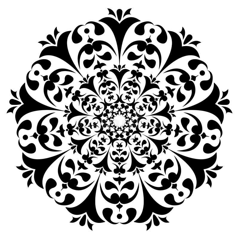 Runde Schwarzweiss-Verzierung Um Ähnliches zu sehen, besuchen Sie bitte meine Galerie stock abbildung
