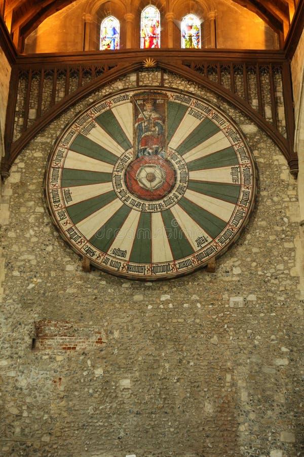 Runde Tabelle des Königs Arthurs stockfoto