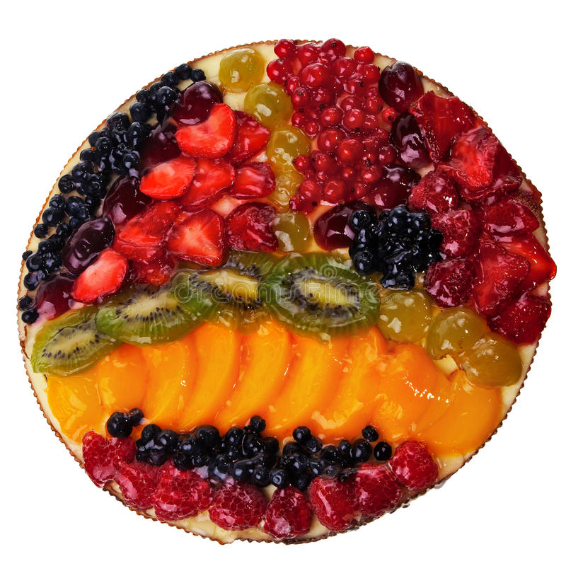 Runde Torte der Frucht. lizenzfreies stockbild