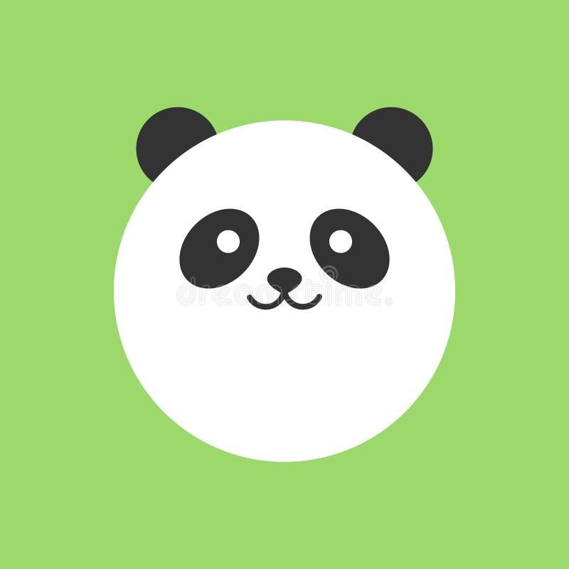 Runde Vektorikone des netten Pandas lizenzfreie abbildung