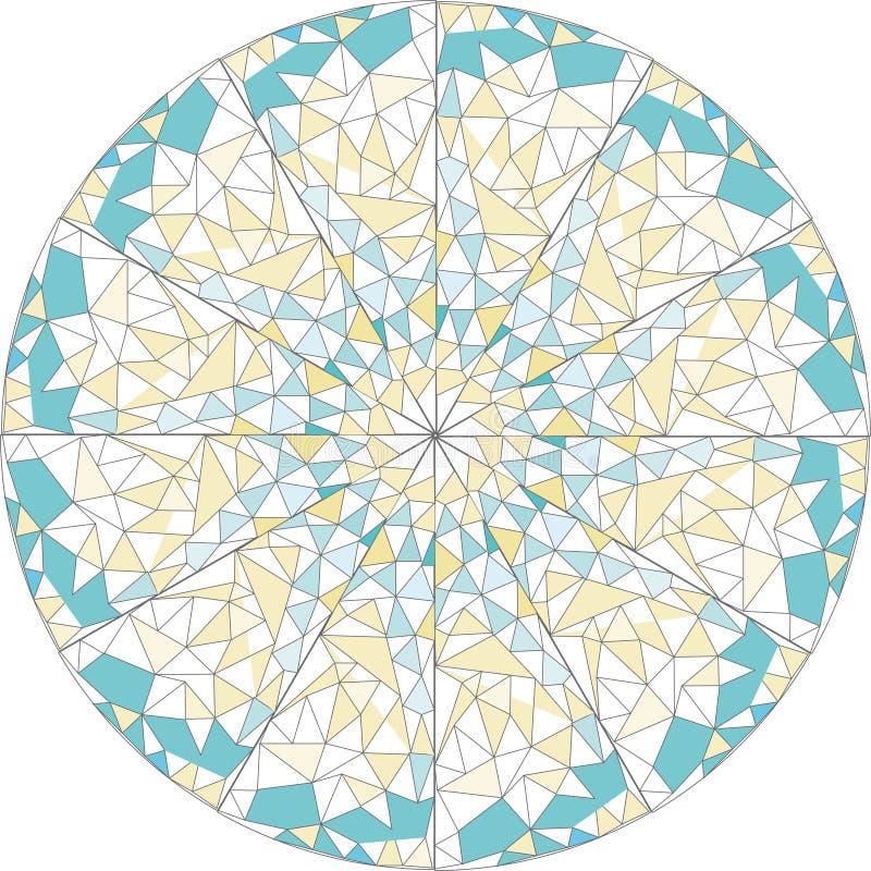 Runde Verzierung-Mandala Mosaikvektorkunst lizenzfreies stockfoto