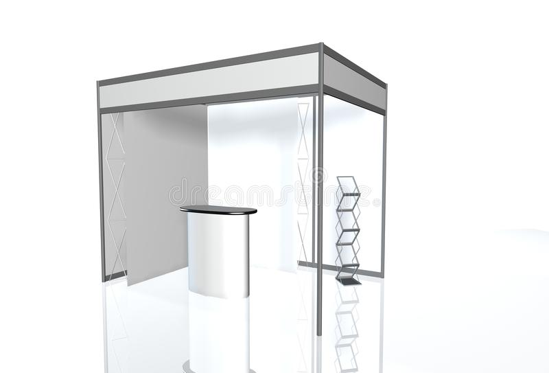 Runde Wiedergabe 3D Geschäftsausstellungsstand Ausstellung lizenzfreie stockfotografie