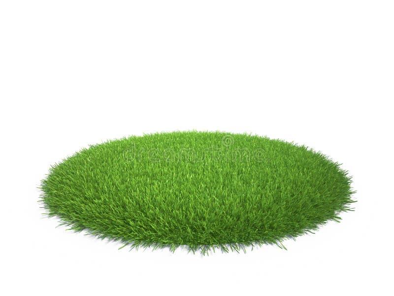 Runder Bereich des grünen Grases lizenzfreie abbildung